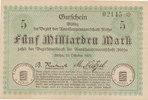 5 Milliarden Mark 1923 Deutschland,Sachsen, Flöha Amtshauptmannschaft, ... 14,99 EUR  zzgl. 1,80 EUR Versand