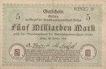 5 Milliarden Mark 1923 Deutschland,Sachsen, Flöha Amtshauptmannschaft, ... 5,99 EUR  zzgl. 1,80 EUR Versand
