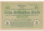 10 Milliarden Mark 1923 Deutschland,Sachsen, Flöha Amtshauptmannschaft,... 16,99 EUR  zzgl. 1,80 EUR Versand