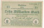 10 Milliarden Mark 1923 Deutschland,Sachsen, Flöha Amtshauptmannschaft,... 15,99 EUR  zzgl. 1,80 EUR Versand