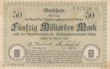 50 Milliarden Mark 1923 Deutschland,Sachsen, Flöha Amtshauptmannschaft,... 19,99 EUR  zzgl. 1,80 EUR Versand