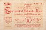 200 Milliarden Mark 1923 Deutschland,Sachsen, Flöha Amtshauptmannschaft... 39,99 EUR  zzgl. 4,00 EUR Versand