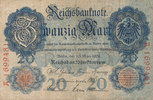 20 Mark 1906 Deutsches Reich,Kaiserreich, Ro.24b KN 7 stellig, gebrauch... 29,99 EUR  Excl. 4,00 EUR Verzending