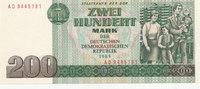 200 Mark 1985 Deutschland,DDR, Ro.364a,Serie AD leicht gebraucht II,Fle... 39,99 EUR  Excl. 7,00 EUR Verzending