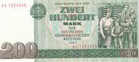 200 Mark 1985 Deutschland,DDR, Ro.364F,Rs.200 hellgrün, Kassenfrisch I  69,99 EUR  Excl. 7,00 EUR Verzending