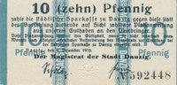10 Pfennig 1916 Deutsches Reich,Danzig, Magistrat der Stadt Danzig, Kas... 34,99 EUR  Excl. 7,00 EUR Verzending