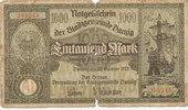 1000 Mark 1923 Freie Stadt Danzig Ro.794 stark gebraucht V,Ruine,Lücken... 30,00 EUR  Excl. 7,00 EUR Verzending