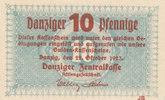 10 Pfennige 1923 Freie Stadt Danzig, Ro.814a,Wz.verschlungene Quadrate,... 199,99 EUR  Excl. 10,00 EUR Verzending