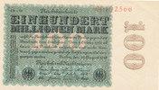 100 Millionen Mark, 1923 Deutsches Reich,Weimarer Republik, Ro.106m Wz.... 59,99 EUR  zzgl. 4,00 EUR Versand