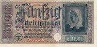 50 Reichsmark 1939-1944 Deutsches Reich,Drittes Reich, Ro.555a leicht g... 22,99 EUR  zzgl. 1,80 EUR Versand