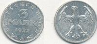 3 Mark 1922 Mz.A Deutsches Reich,Weimarer Republik, J.302 ohne Umschrif... 5,99 EUR  zzgl. 1,80 EUR Versand
