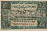 10 Mark 1920 Deutsches Reich,Weimarer Republik, Ro.63a KN 7 stellig geb... 0,99 EUR  zzgl. 1,80 EUR Versand