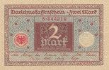 2 Mark 1920 Deutsches Reich,Weimarer Republik, Ro.65a Siegel rot, fast ... 0,99 EUR  zzgl. 1,80 EUR Versand