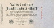 500 Mark 1922 Deutsches Reich,Weimarer Republik, Ro.71a KN 7stellig rot... 12,99 EUR  zzgl. 1,80 EUR Versand