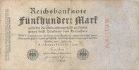 500 Mark 1922 Deutsches Reich,Weimarer Republik, Ro.71a KN 7stellig rot... 2,99 EUR  zzgl. 1,80 EUR Versand