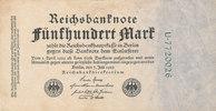 500 Mark 1922 Deutsches Reich,Weimarer Republik, Ro.71b KN 7stellig grü... 0,99 EUR  zzgl. 1,80 EUR Versand