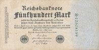 500 Mark 1922 Deutsches Reich,Weimarer Republik, Ro.71c KN 8stellig grü... 0,99 EUR  zzgl. 1,80 EUR Versand