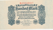 100 Mark 1922 Deutsches Reich,Weimarer Republik, Ro.72, leicht gebrauch... 9,99 EUR  zzgl. 1,80 EUR Versand