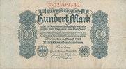 100 Mark 1922 Deutsches Reich,Weimarer Republik, Ro.72, stark gebraucht... 0,99 EUR  zzgl. 1,80 EUR Versand