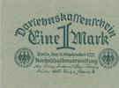 1 Mark 1922 Deutsches Reich,Weimarer Republik, Ro.73a Papier mattgrün l... 0,99 EUR  zzgl. 1,80 EUR Versand