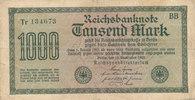 1000 Mark 1922 Deutsches Reich,Weimarer Republik, Ro.75a, Wz.Hakenstern... 0,99 EUR  zzgl. 1,80 EUR Versand