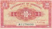 10 Cents (1941) Hongkong P.315b KN 7stellig mit Serie A, leicht gebrauc... 29,99 EUR  zzgl. 1,80 EUR Versand