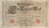 1000 Mark 1909 Deutsches Reich,Kaiserreich, Ro.39 Udr.Bst.P, Serie C, g... 31,99 EUR  Excl. 7,00 EUR Verzending