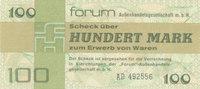 100 Mark 1979 Deutschland,DDR, Ro.372a Forumscheck, Kassenfrisch I  99,99 EUR  Excl. 7,00 EUR Verzending