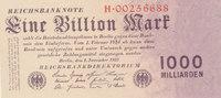 1 Billion Mark 1923 Deutsches Reich,Weimarer Republik, Ro.126a Reichsdr... 119,99 EUR  Excl. 10,00 EUR Verzending
