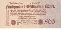 500 Milliarden Mark 1923 Deutsches Reich,Weimarer Republik, Ro.124d Fir... 29,99 EUR  Excl. 4,00 EUR Verzending