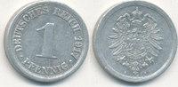 1 Pfennig 1917 Mz.A Deutsches Reich,Kaiserreich, J.300 Alu, ss+,  0,99 EUR  zzgl. 1,80 EUR Versand