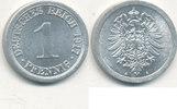 1 Pfennig 1917 Mz.A Deutsches Reich,Kaiserreich, J.300 Alu, vz.-st.  2,99 EUR  zzgl. 1,80 EUR Versand