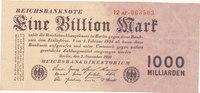 1 Billion Mark 1923 Deutsches Reich,Weimarer Republik, Ro.126b, Firmend... 79,99 EUR  Excl. 7,00 EUR Verzending