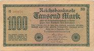1000 Mark 1922 Deutsches Reich,Weimarer Republik, Ro.75d, Wz.Dornen KN ... 0,99 EUR  zzgl. 1,80 EUR Versand