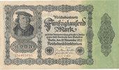 50000 Mark 1922 Deutsches Reich, Ro.79d Firmendruck,KN braun,FZ:M, gebr... 4,99 EUR  zzgl. 1,80 EUR Versand