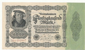 50000 Mark 1922 Deutsches Reich, Ro.79d Firmendruck,KN braun,FZ:N, leic... 5,99 EUR  zzgl. 1,80 EUR Versand