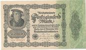 50000 Mark 1922 Deutsches Reich, Ro.79d Firmendruck,KN braun,FZ:P, leic... 6,99 EUR  zzgl. 1,80 EUR Versand