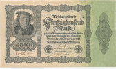 50000 Mark 1922 Deutsches Reich, Ro.79d Firmendruck,KN braun,FZ:P, gebr... 4,99 EUR  zzgl. 1,80 EUR Versand