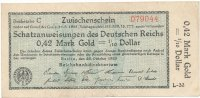 Deutsches Reich o,42 Mark Gold 23.Oktober ...