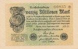 20 Mio.Mark 1.September 1923 Deutsches Reich Ro.107b Wz.Rauten liegend ... 29,99 EUR  Excl. 4,00 EUR Verzending