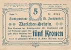 Tschechoslowakei 5 Kronen 1919 gebraucht III Stadtgemeinde St.Joachimstal 29,99 EUR 