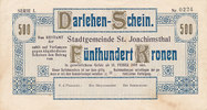 500 Kronen 1919 Tschechoslowakei St.Joachimsthal Blanko, nicht ausgegeb... 149,99 EUR  Excl. 10,00 EUR Verzending