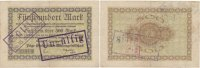 Deutsches Reich, Sachsen 500 Mark 11.September Chemnitz, Pöge Elektricitäts A.G., durch Stempel verlängert,