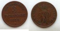 3 Pfennige 1858 Altdeutschland Oldenburg-Birkenfeld ss  34,99 EUR  Excl. 7,00 EUR Verzending