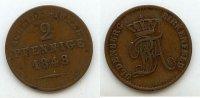 2 Pfennige 1848 Altdeutschland Oldenburg-Birkenfeld ss  39,99 EUR  Excl. 7,00 EUR Verzending