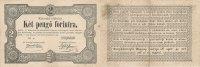 2 Forint 1849 Ungarn  gebraucht III-, 2 kleine Einrisse,  49,99 EUR  Excl. 7,00 EUR Verzending
