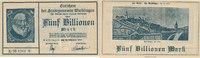 5 Billionen Mark 1923 Deutsches Reich, Würtemberg, Waiblingen, Stadtgem... 39,99 EUR  zzgl. 4,00 EUR Versand