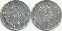 50 Centesimi 1863 M Italien  vz  14,99 EUR
