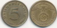 5 Reichspfennig 1936 Mz.A Deutsches Reich, Drittes Reich J.363 ss  59,99 EUR  Excl. 7,00 EUR Verzending