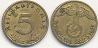 5 Reichspfennig 1936 Mz.A Deutsches Reich, Drittes Reich J.363 ss Flecke,  49,99 EUR  Excl. 7,00 EUR Verzending